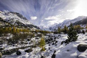 nature mountains landscape winter