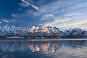 nature mountains snowy peak