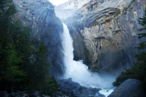 nature mountains waterfall yosemite national park