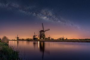 nature netherlands milky way mill
