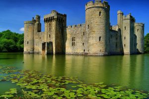 nature old building bodiam castle medieval castle lake