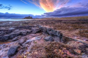 nature rock clouds landscape stones sky
