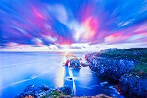 nature sea sky landscape