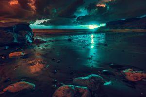 nature sunlight artwork beach sea