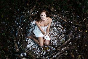 nests eggs model women