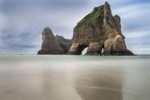 new zealand coves landscape beach rock formation national park