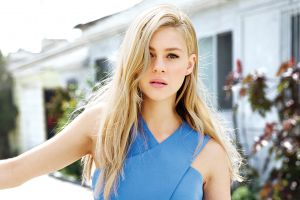 nicola peltz women outdoors transformers: age of extinction blonde women face bates motel actress blue clothing