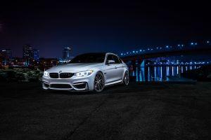 night bmw car