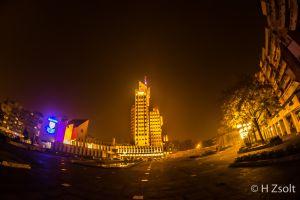 night lights urban cityscape city