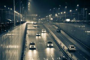 night road car nightscape