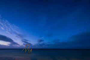 night sky landscape sea