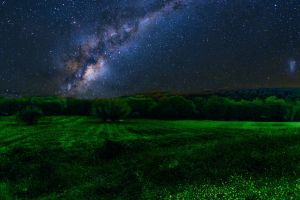 night sky landscape stars sky