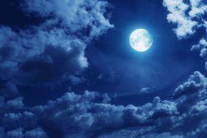 night sky moonlight clouds moon