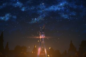 night sword anime stars sword art online yuuki tatsuya weapon sky