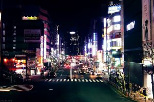 night urban cityscape city lights japan tokyo