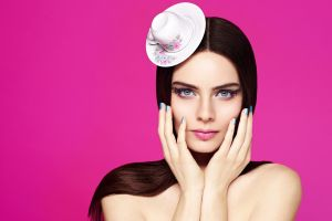 nil karaibrahimgil flowers singer women turkish pink cup blue eyes