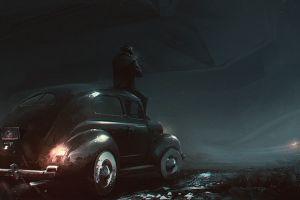 noir classic car artwork