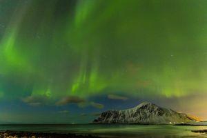 nordic landscapes skyscape sky landscape aurorae night