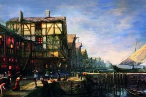 novigrad the witcher concept art the witcher 3: wild hunt video games