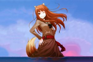 okamimimi holo anime girls anime spice and wolf