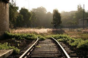 old outdoors metal railway