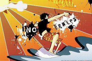 one piece surfing anime boys anime sport  monkey d. luffy