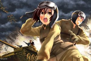 open mouth 2010 (year) muv-luv tank anime girls anime