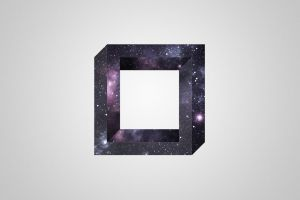 optical illusion abstract square universe simple background 3d object