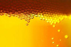 orange beer gradient yellow yellow background bubbles