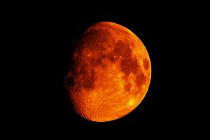 orange moon space