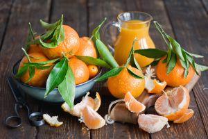 orange scissors fruit food still life