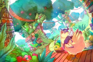 original characters anime fantasy art