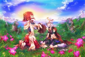 original characters anime nature