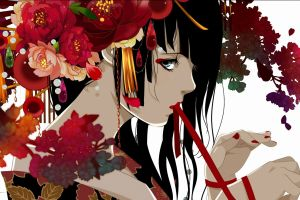 original characters flowers red