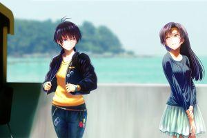 original characters long hair anime girls anime