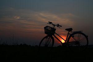 outdoors dark bicycle vehicle