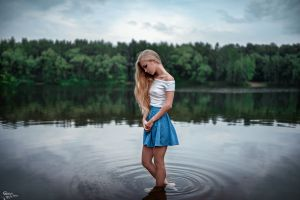 outdoors model river photography long hair water women outdoors blonde victoria pichkurova forest georgy chernyadyev women