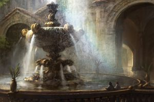 painting magic: the gathering fountain