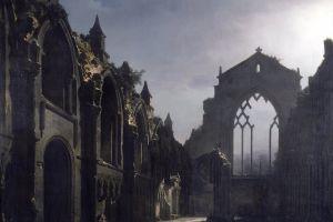 painting ruins church