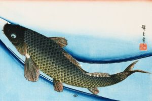 painting traditional art fish kanji