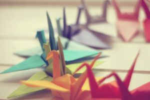 paper cranes photography origami colorful