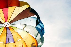 parachutes colorful photography clear sky