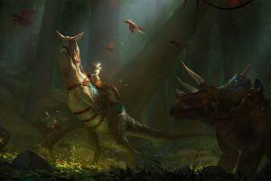 pc gaming fantasy art creature ark: survival evolved video game art artwork