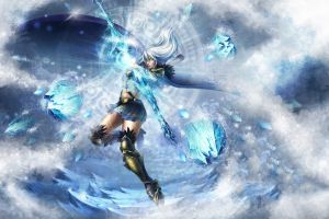 pc gaming league of legends ashe fantasy art fantasy girl