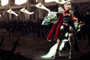 pc gaming league of legends fantasy girl riven fantasy art