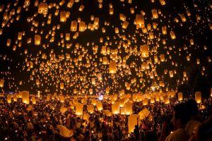 people lamp festivals