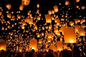 people night crowds lantern