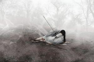 photo manipulation blood arrow angel
