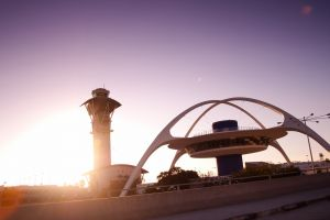 photography airport los angeles sunset