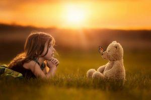 photography children teddy bears